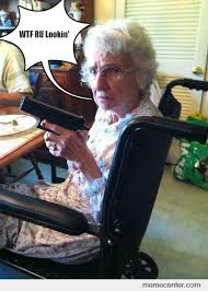Funny Grandma Memes - badass grandma by ben meme center