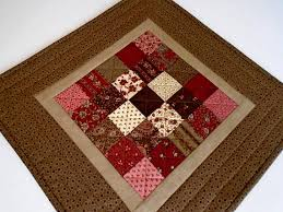 Primitive Table Runners by Quilted Table Topper In Earth Tones Primitive Quilted Table