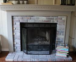 new year new room challenge re whitewashing the brick fireplace