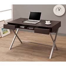 Modern Laptop Desk by Rustic Light Brown Bamboo Wooden Computer Desk With Skirt And