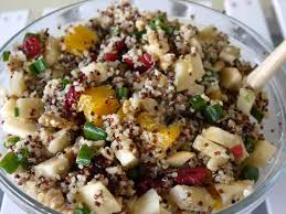 thanksgiving side dish apple quinoa cranberries and walnuts