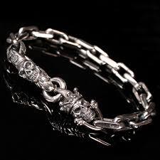 bracelet skull silver images Bracelets silver product categories skull n 39 roses jpg