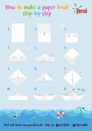 How To Make Boat From Paper - how to make a paper boat step by step persil