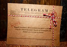Telegram Wedding Invitation A Telegram Will Do The Trick Maggie U0026 Erik U0027s Save The Date