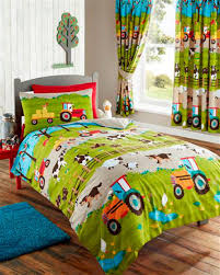 bedroom quilts and curtains details about farm animals tractor kids gallery also bedroom