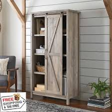 Rustic Kitchen Storage - kitchen storage cabinet home pantry organizer cupboard rustic gray