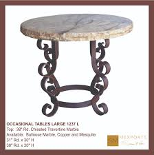 marble base table l occasional side table large round iron base chocolate finish