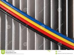 wires dark blue red yellow and black stock image image 17532249