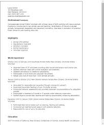 Resume Templates And Examples by Professional Animal Shelter Volunteer Templates To Showcase Your