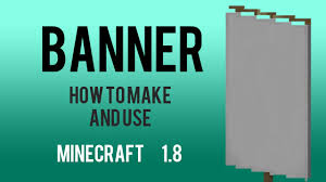 how to make banners in minecraft 1 8 14w30b