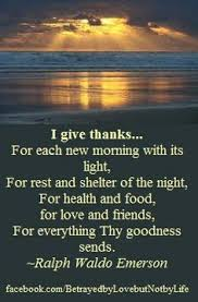 i give thanks for each new morning with its light prayer quote