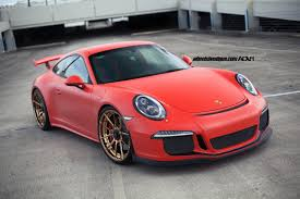 porsche red red porsche 991 gt3 adv5 0 m v2 cs wheels