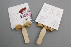 paper fans for weddings free printable wedding program templates you ll