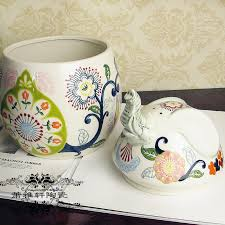 european style painted ceramic garden ornaments like
