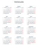Calendario 2014 en Venezuela : Feriados y Días Puente - Vídeo XXX ...