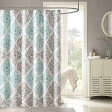 Grey Bathroom Curtains Fabric Shower Curtains Purple Color Blue Corner Bathroom