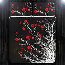 Cherry Duvet Cover Red Cherry Blossom Tree Duvet Cover Bedding Queen Size King