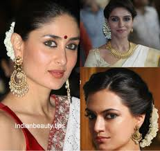 bridal hairstyle for reception 10 best hairstyles for traditional sarees indian beauty tips