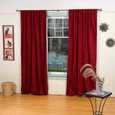Burgundy Curtains For Living Room Living Room Velvet Curtains With Brown Wooden Floor And Small