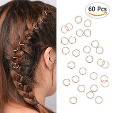 hair rings buy images Buy 60pcs gold hair rings for pierced braid dreadlock decoration jpg