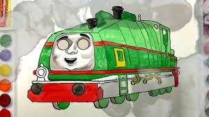 draw thomas friends coloring tank engine gator train