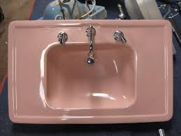 retro pink bathroom ideas bathroom sinks with chrome legs crafts home
