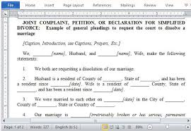 best free petition templates for wordwhat petition for divorce