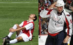 Soccer Player Meme - soccer injuries vs hockey injuries