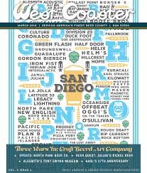 San Diego Breweries Map by West Coaster San Diego Beer Magazine West Coaster San Diego Beer
