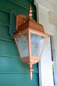 Copper Outdoor Light Fixtures Easy Thrifty Exterior Light Makeover Living Rich On Lessliving