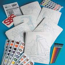 buy watercolor paint by numbers craft kit at s u0026s worldwide