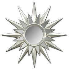 Wall Mirror Decor by Furniture Elegant Silver Starburst Wall Decor With Mirror For