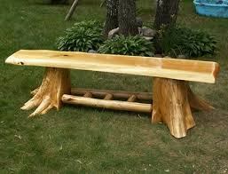 Designer Wooden Benches Outdoor by 25 Best Log Benches Ideas On Pinterest Rustic Cleavers Log