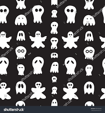 halloween seamless background seamless pattern ghosts halloween hand drawn stock vector