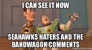 Seahawks Bandwagon Meme - i can see it now seahawks haters and the bandwagon comments buzz