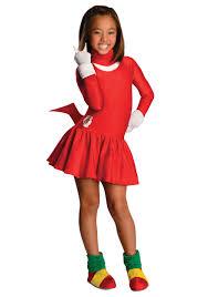 Sonic Halloween Costume Child Knuckles Girls Costume