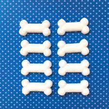 edible bones dog bone sugars 12 edible sugar topper paw