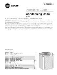 trane xr17 install manual
