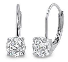 back diamond earrings 0 40 ct lever back cut diamond earrings lever back