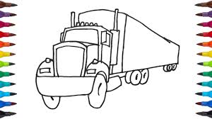 learn colors and drawing how to draw a truck coloring pages