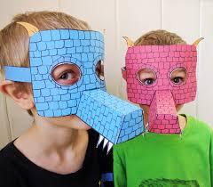 printable dragon masks colored papercrafts for kids