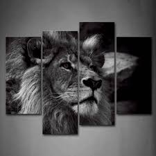 white tiger home decor amazon com black and white lion head portrait wall art painting