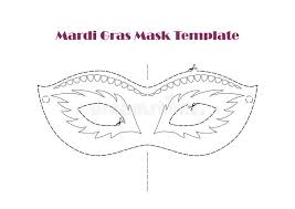 carnival prop mask template printable vector stock vector