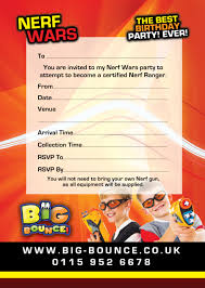 Card Factory Party Invitations Nerf Party Invitations U2013 Gangcraft Net