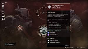 destiny 2 highest light level destiny 2 iron banner guide weapon and armour rewards start