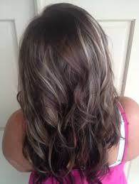 coloring gray hair with highlights hair highlights for medium brown hair with grey highlights google search grey