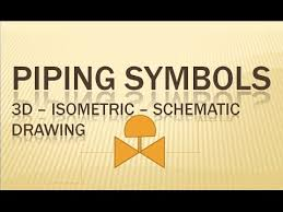 piping symbols 3d isometric schematic drawing