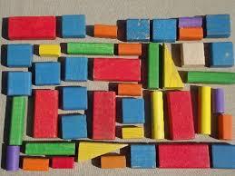 playskool colored wood blocks wooden building blocks