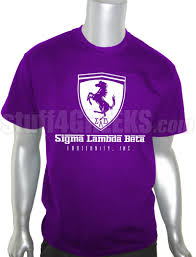 purple ferrari sigma lambda beta ferrari screen printed t shirt purple