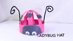 ladybug hat kids craft youtube